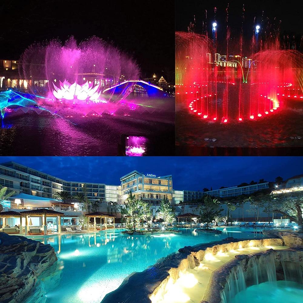 54W LED Pool Light RGB LED Light Swimming Pool Lighting Outdoor Light Removable Swimming pool Lights Underwater lamp for Pools enlarge