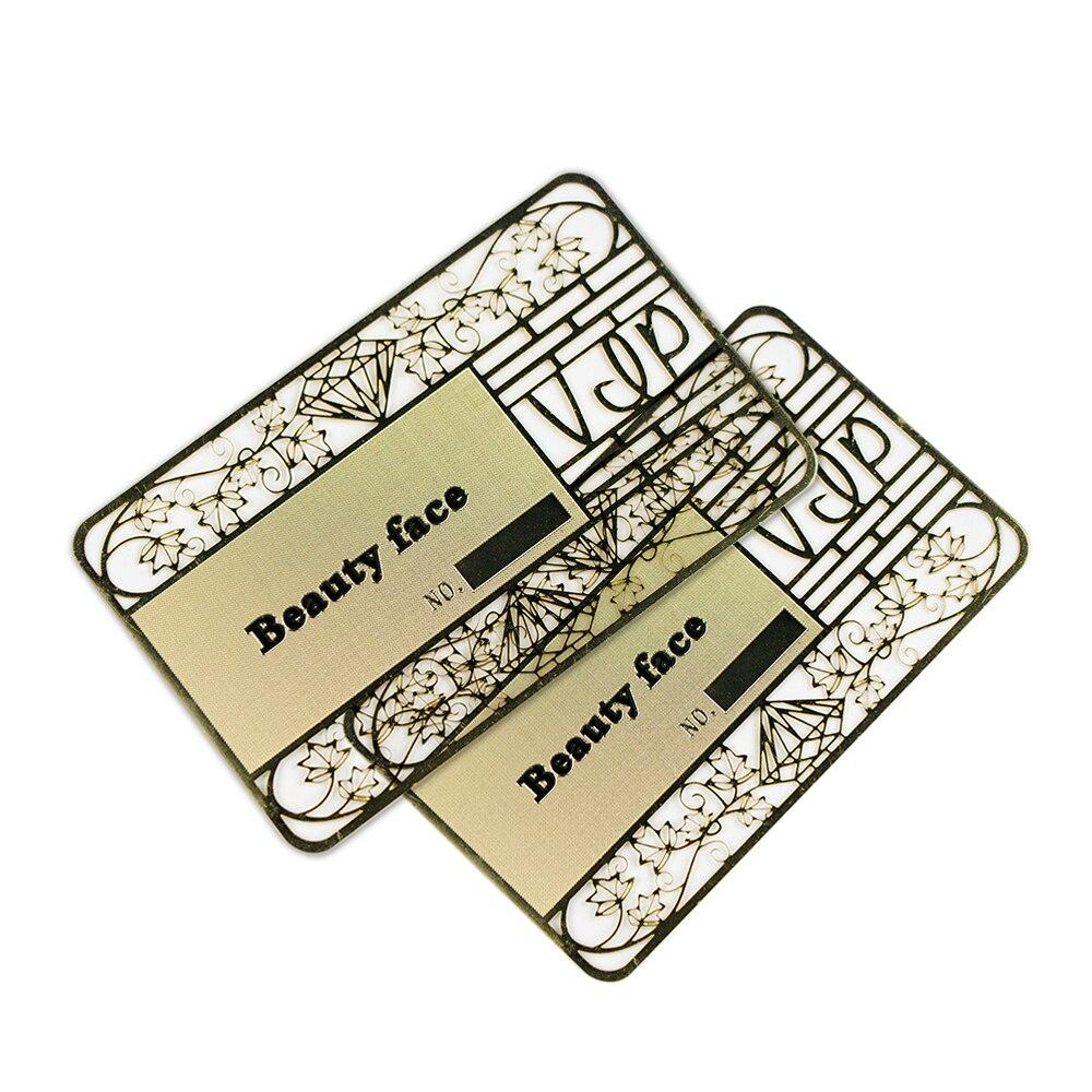 Шелковый экран 0,4 мм толщина лазерной резки анодированный индивидуальный металлический бизнес металлик членство VIP карта