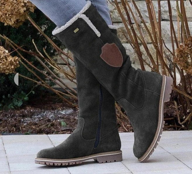 Women's PU Flat Heel Mid-Calf Boots Snow Boots Round Toe Winter Boots with Zipper Tassel Shoes Combat Boots for Women D320 girls boots new kids winter shoes uovo brand flat heel leather mid calf national style eu26 39 chaussures fille enfants bottes