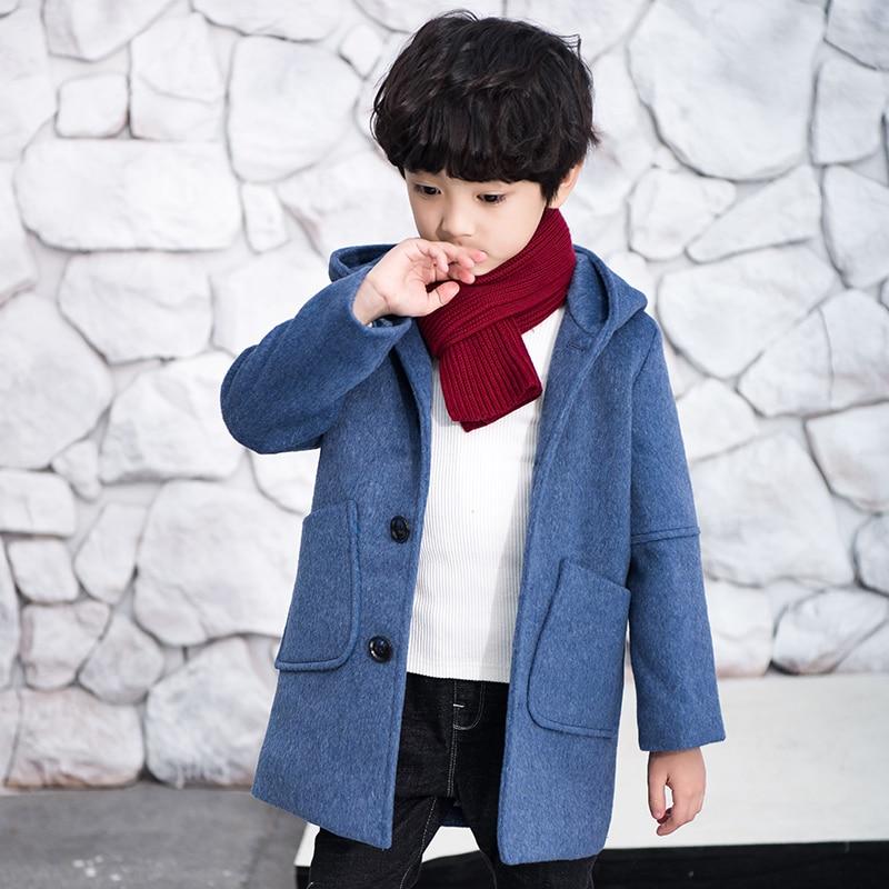 casaco com capuz infantil jaqueta longa de la para garotos com acolchoamento de algodao