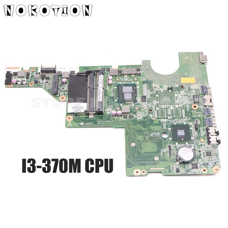 NOKOTION 637583-001 DAAX1JMB8C0 Tablero Principal, placa base para ordenador portátil HP Pavilion G62 G42, I3-370M CPU UMA DDR3