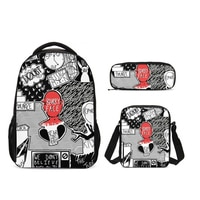 2019 Twenty One Pilots Men Printing Backpack Set Teenager Boys School Bags Preppy Style Rucksack Casual Book Bag Laptop Mochila