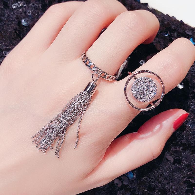 Retro Simple y elegante Hipster hueco de anillo de moda de las...