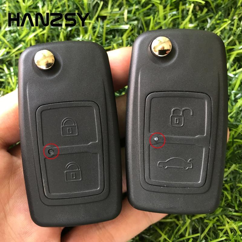 Funda de llave plegable de 2 botones para coche CHERY A5 FULWIN TIGGO E5 A1 COWIN EASTER, funda de llave a distancia de repuesto, Fob sin hoja