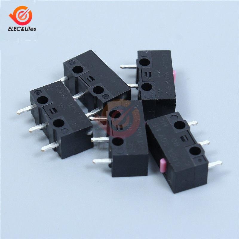 10 Uds. Microinterruptor de ratón de 12,8x5,8x6,5mm microinterruptor de pulsador estable Micro interruptores 12,8*5,8*6,5mm 12,8*5,8*6,5
