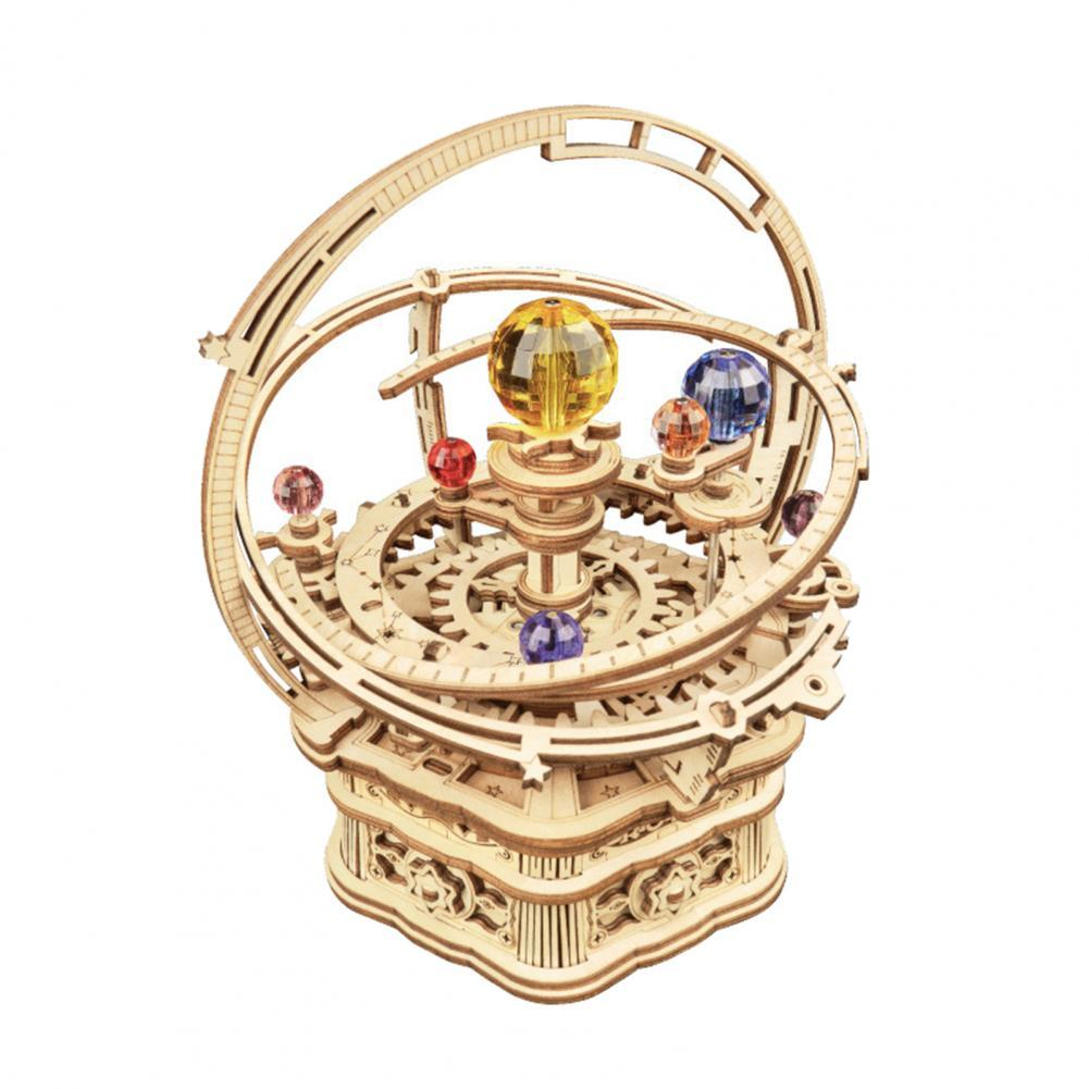 Creative Rokr Music Box 3D Wooden Puzzle Game Assembly Model Building Kits Toys for Children Kids Bi