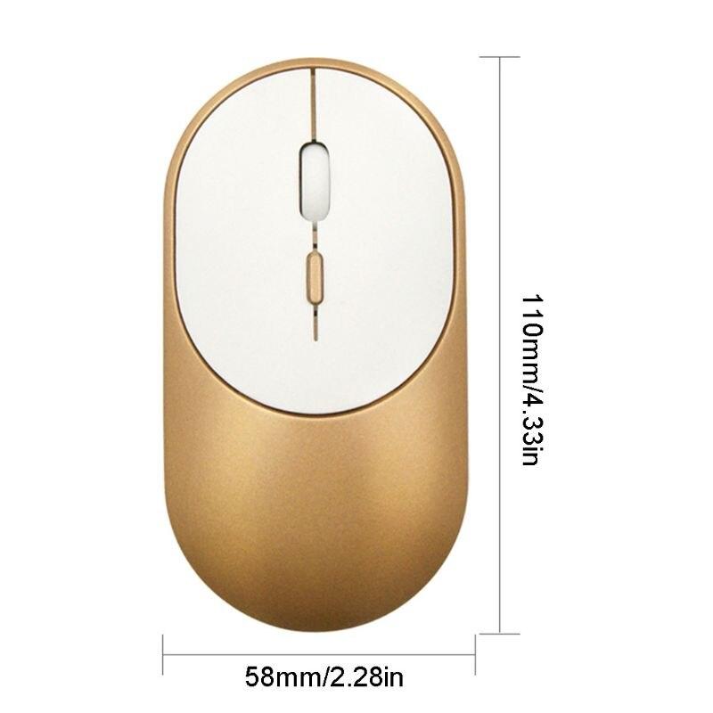 Ultra-Delgado ratón inalámbrico Bluetooth 5,1 + 2,4G Dual modo Mouse óptico para juegos M5TD