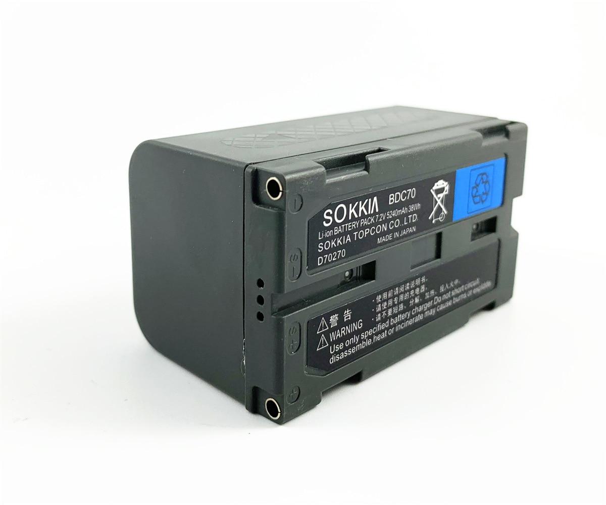 SOKKIA-بطارية ليثيوم أيون TOPCON BDC70 ، جهاز مسح ، 7.2 فولت ، 5240 مللي أمبير ، محطة كاملة ، متوافق مع sokkia topcon ، موديل جديد