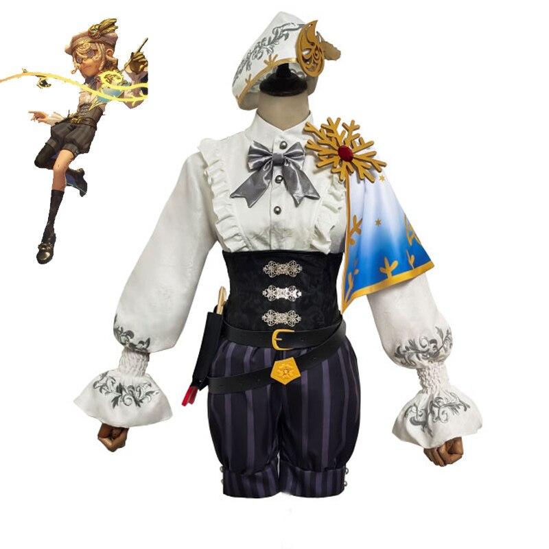 Костюм для косплея персонажа игры Эдгара валдена, костюм художника, костюм для косплея с золотым соотношением, униформа из кожи, комплекты о...