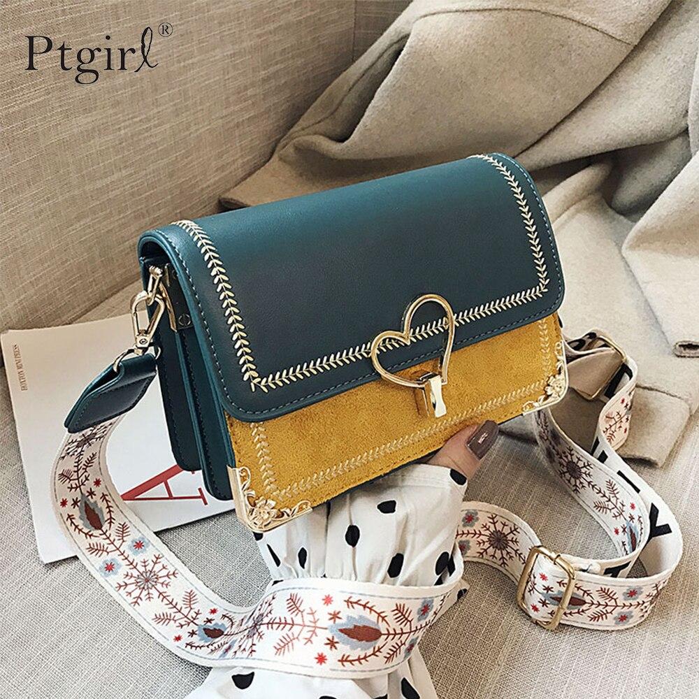 2020 New Mini Handbags Women Fashion ins Ultra Fire Retro Wide Shoulder Strap Messenger Bag Purse Simple Style Crossbody Bags