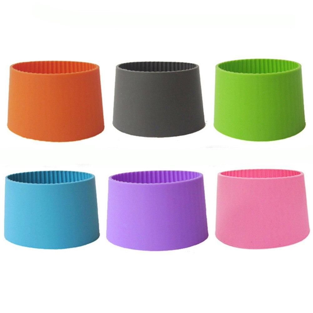 Envolturas antideslizantes con diseño de rayas densas y aislamiento térmico de silicona de colores para tazas Taza de cerámica taza de agua