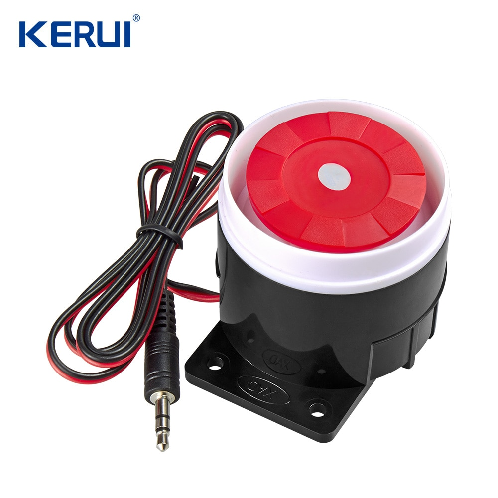 kerui Mini Wired Siren For PSTN GSM Wireless Home Alarm Security System 120 dB Alarm Accessories Siren mini wired siren horn for gsm 3g 4g wireless home security sound alarm system 110db alarm siren