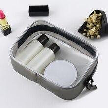 Women Men Transparent Cosmetic Bag Travel Waterproof PVC Zipper Toiletry Wash Bag Beauty Makeup Bag