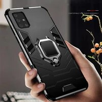 for galaxy a71 sm a715f case high quality heavy duty shockproof metal finger ring case cover for samsung galaxy a51 sm a515f