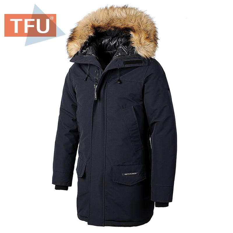Men 2020 Winter Casual Classic Long Fur Collar Thick Parkas Jacket Coat Men Outwear Hooded Pockets Waterproof Jackets Parka Men
