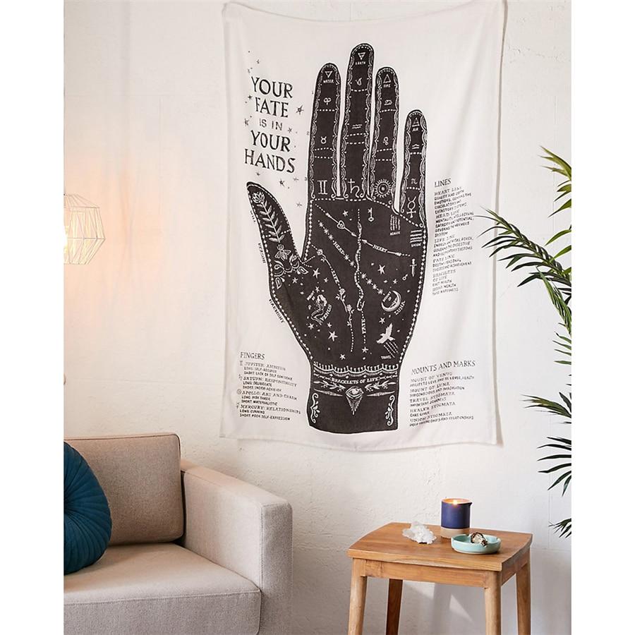 Гобелен настенная хиромантия кофейное Таро тапиз настенная ткань ковер розовый Бохо Декор Ouija колдовство настенный гобелен из ткани ковер