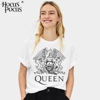 the queen band rock t shirt women hip hop casual tshirts casual harajuku female top tee shirts streetwear