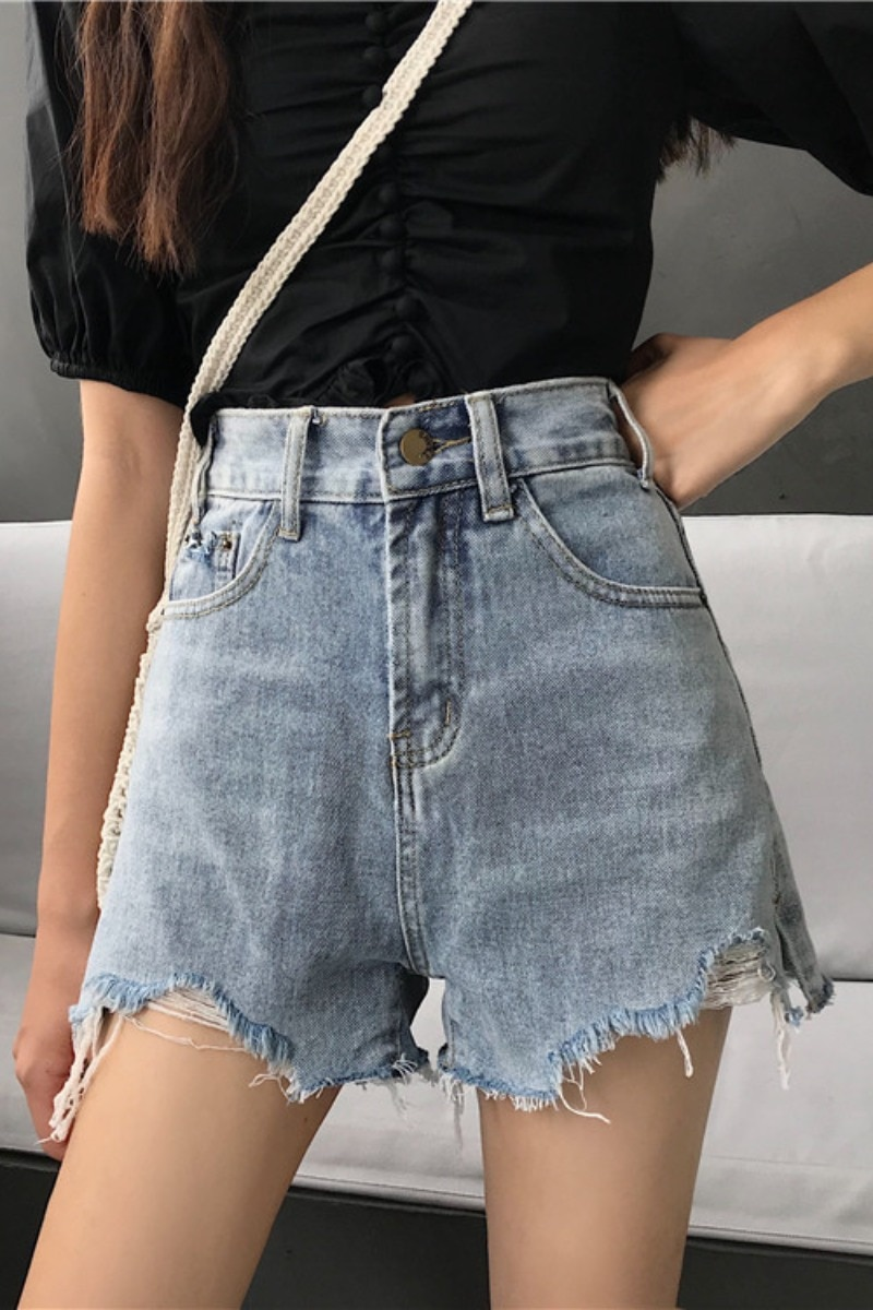2020 spring summer autumn new women fashion casual cute sexy shorts outerwear woman female OL high waisted jeans Vq98  - buy with discount