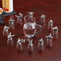 chinese style liquor glass set high end white wine glass gifts for court