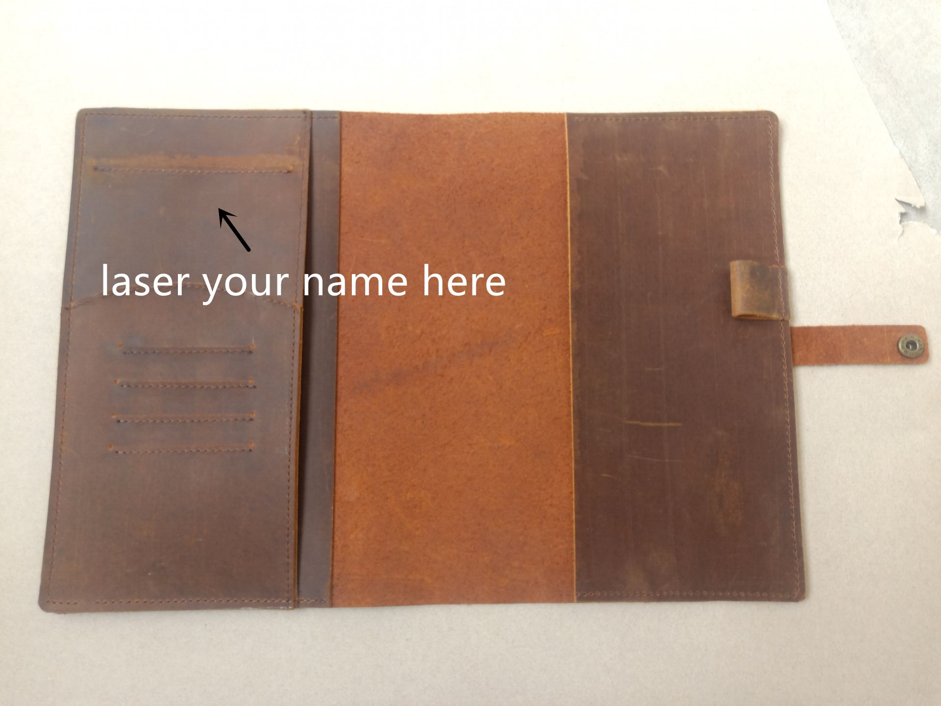 genuine leather A5 notebook cover 2021 vintage leather planner cover multi-function journal and agenda cover