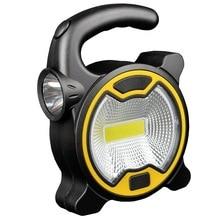 COB Work Lamp Portable LED Lantern Emergency Spotlight Rechargeable Floodlight for Outdoor Camping Work Light Mini Flashlight