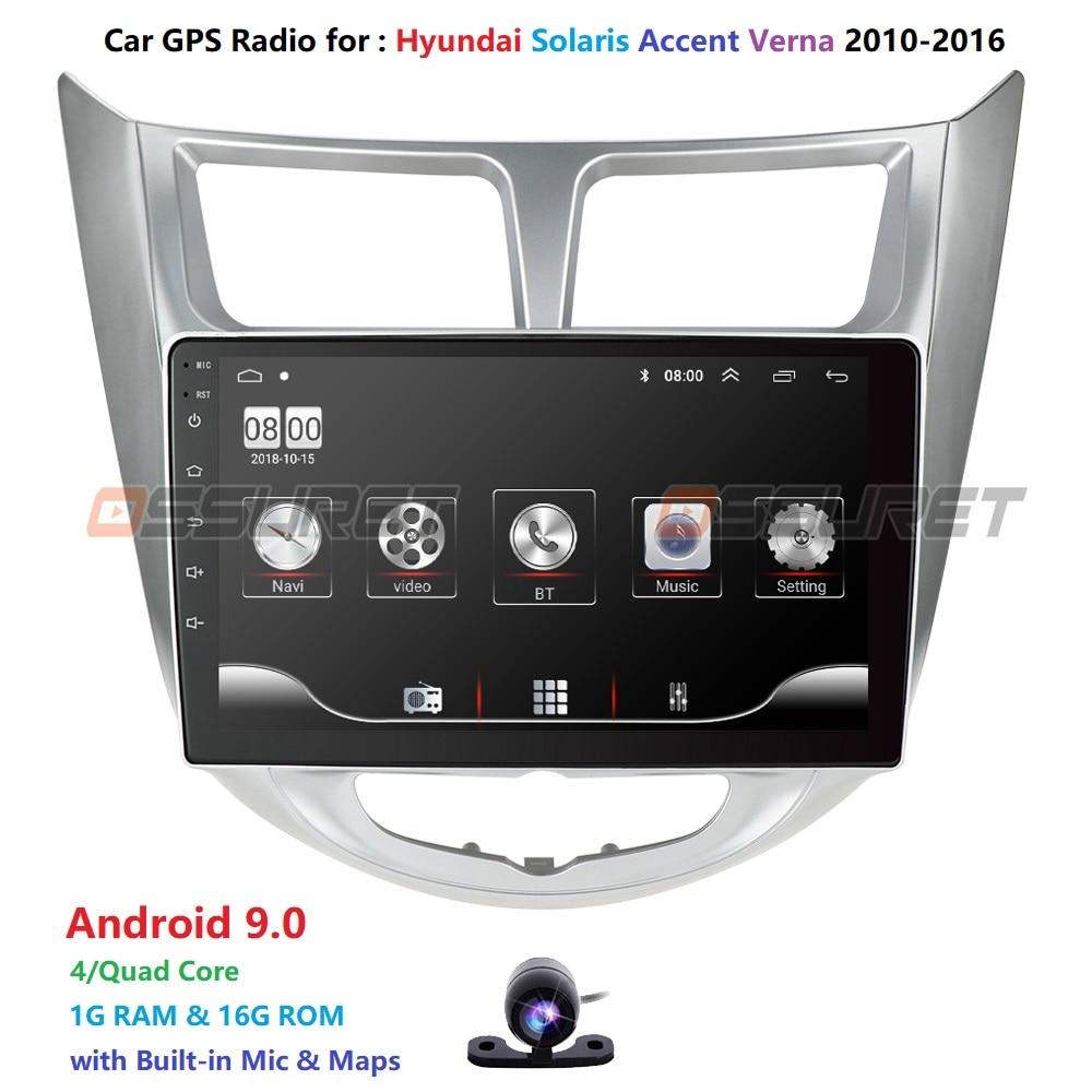 2din Android 9,0 RAM 1Gb coche NODVD jugador para Hyundai Solaris acento Verna radio, navegación gps para coche grabadora de cinta BT mapa WIFI Pc
