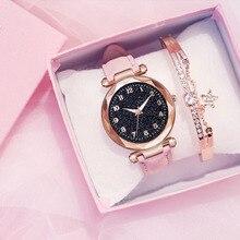 Mode femmes montres meilleure vente étoile ciel cadran horloge de luxe femmes Bracelet dames montre Quartz montres Relogios Feminino
