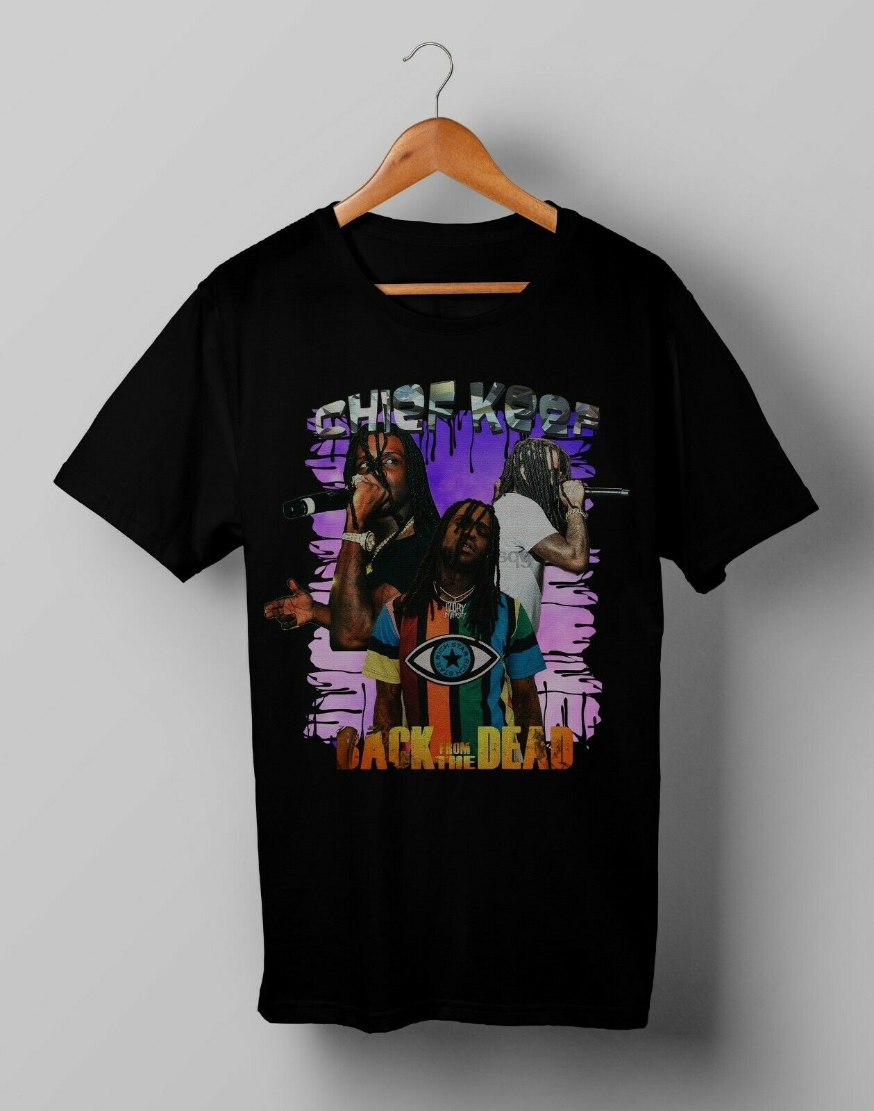 Vintage jefe Keef a muerto camiseta de hip-hop tamaño S, M, L, XL, 2XL