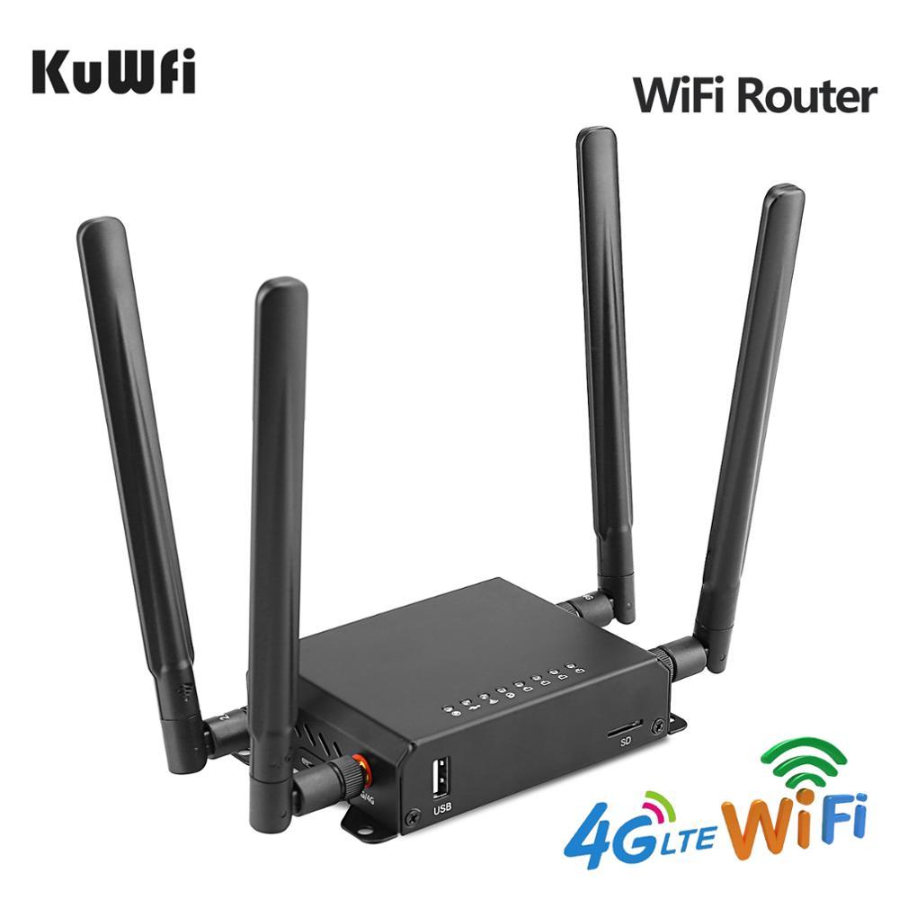 KuWfi الأصلي 300Mbps راوتر لاسلكي CAT6 4G LTE CPE uklock FDD/TDD سيم بطاقة راوتر مع 4G مودم تصل إلى 32 مستخدمي واي فاي