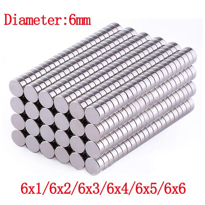 Неодимовый магнит 20 50 шт./лот 6x1 6x2 6x3 магниты Круглый магнит сильный магнит редкоземельный магнит лист магнит на холодильник