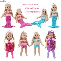 doll mermaid clothes crownpanties for 43cm baby new born reborn doll18 inch american girl for our generation girls toy gift