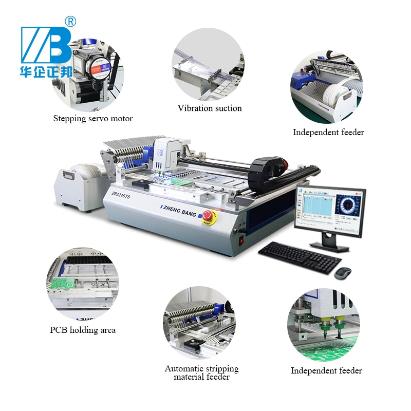 Surface Mount Mounter Vision Visual Placement Led Printer Line Smd Smt Pick And Place Machine Small Production