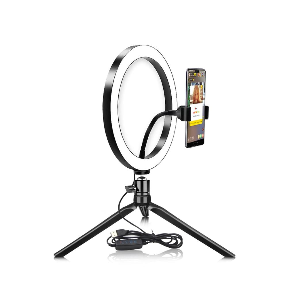fill light video live ring light led beauty photography light for cellphone photography led selfie clip ring light with tripod SWT Video Live Studio Light USB Dimmable LED Selfie Ring Light Cellphone Photography Lighting With Tripod For YouTube Makeup