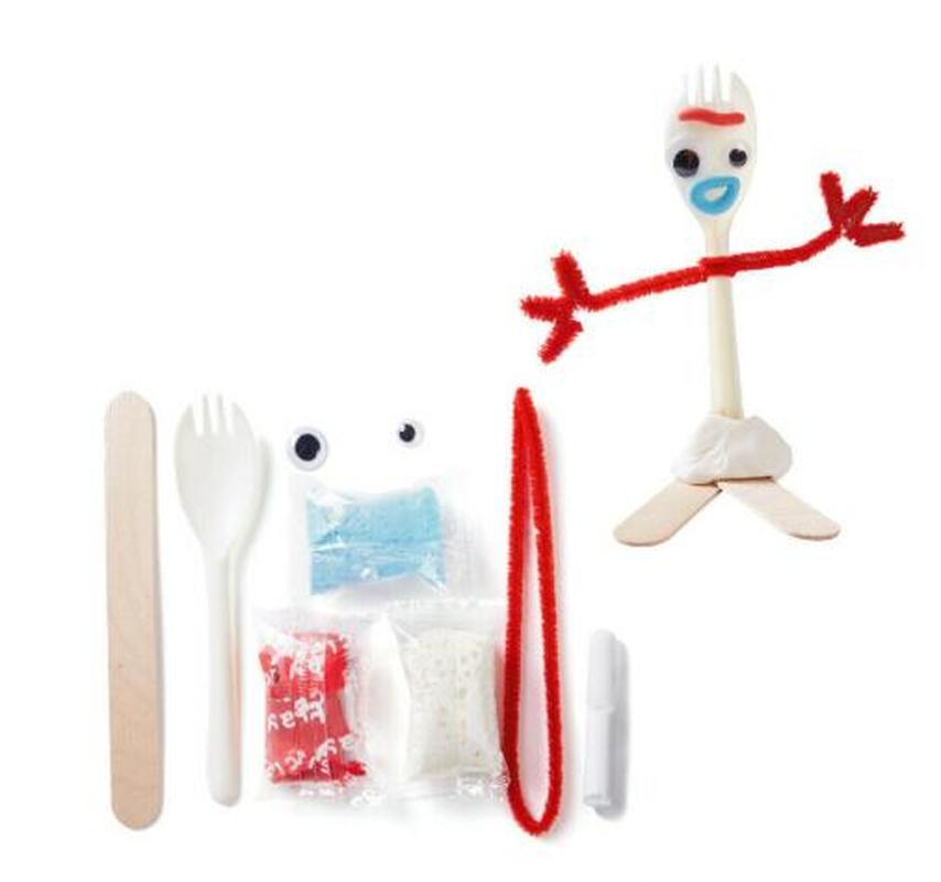 2019 nuevo juguete historia 4 hacer su propio Forky DIY Kit para manualidades bebé desarrollo de niños