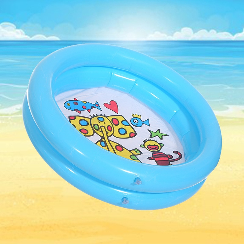 Juego de Pelota de 65x65cm, piscina para bebé, piscina para niño, juguetes de agua para chico de verano, bañera inflable con estampado redondo de animales