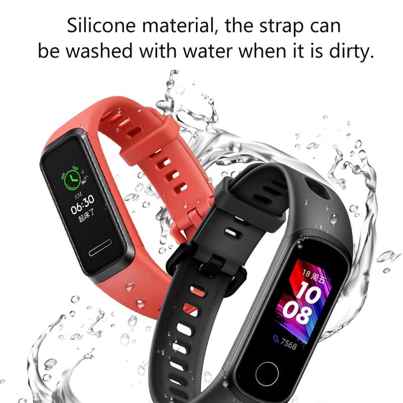 Силиконовый ремешок на запястье для Huawei Band 4, стандартная версия, смарт-браслет, спортивный браслет, ремешок для honor Band 5i Correa, ремешок для часо...