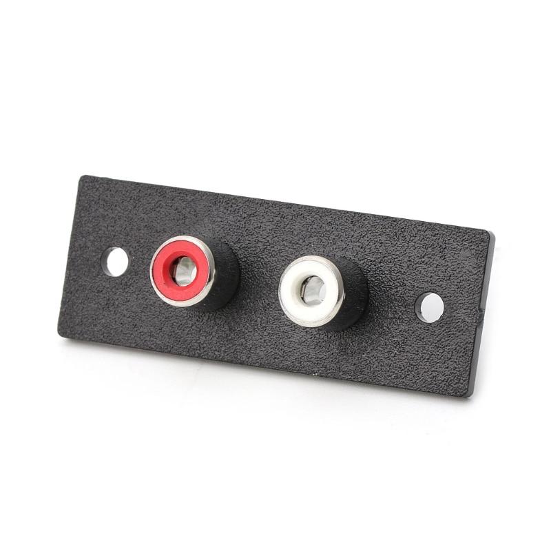 2 способа RCA терминал настенная панель, пластина ввода Phono Шасси гнездо Аудио AV адаптер Y98E