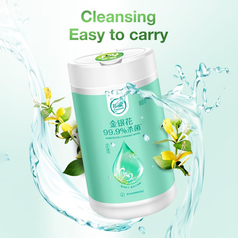 80 folhas que limpam toalhetes descartáveis da mão toalhetes de limpeza dos brinquedos da pele para a ferramenta limpa dos vidros dos cuidados da limpeza da pele anti-séptica