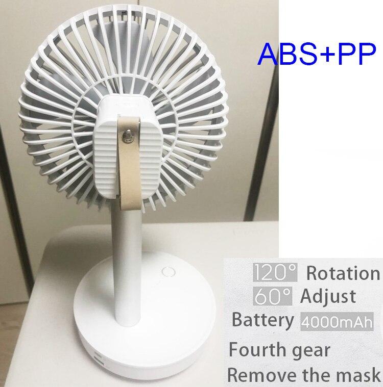 4000mAh USB na biurko z akumulatorem wentylator przenośny ultra-cichy kreatywny elektryczny wentylatorki USB cichy Mini wiatrak biurowy na lato