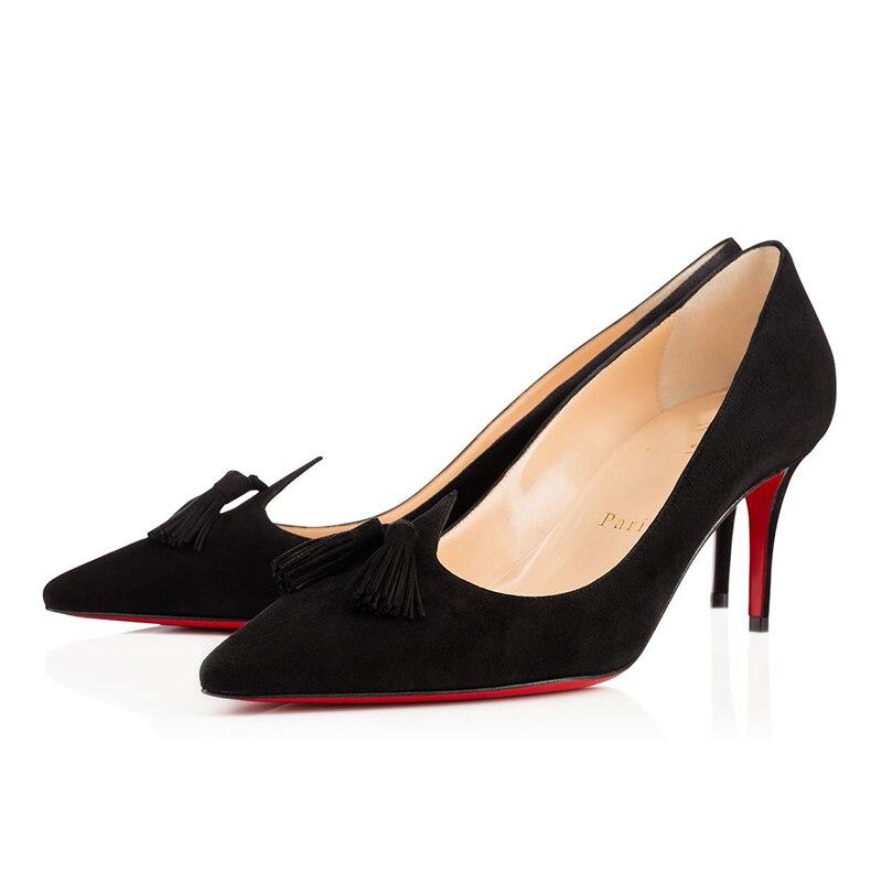 Women High Heels 8 10 12cm Luxury Pumps Sexy Platform Clear Ladies Mules Red Bottom Wedding Party Dr