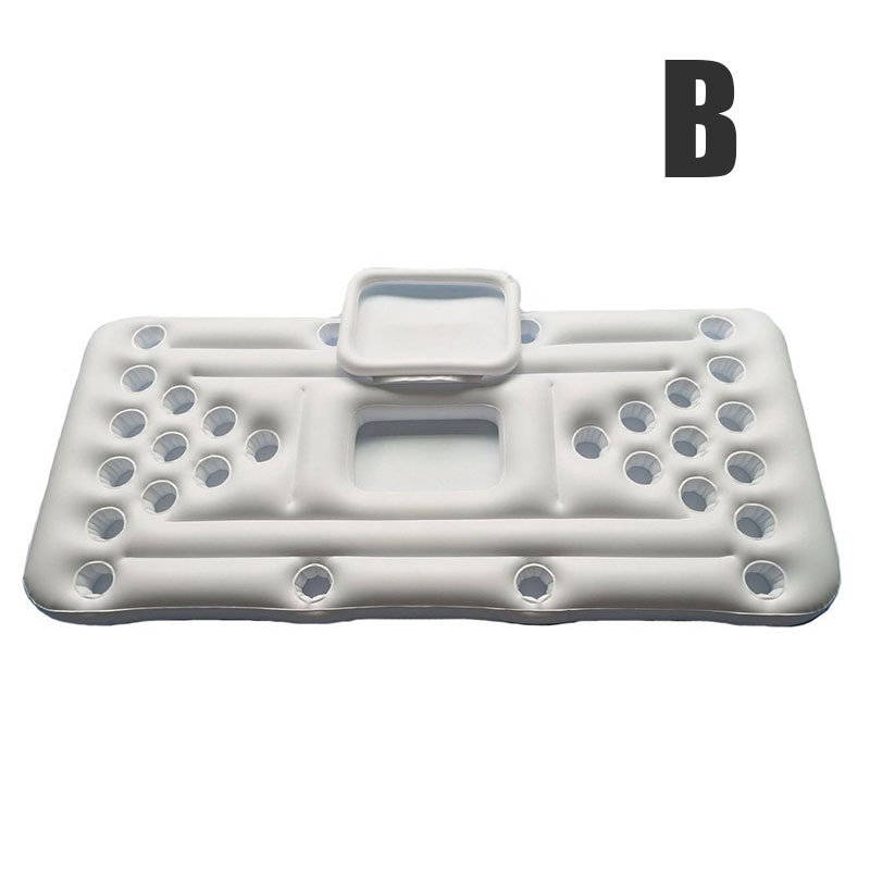Hot 24/28 Cup Holder Inflatable Beer Pong Table Pool Float Summer Water Party Fun Air Mattress Cooler Float DO2