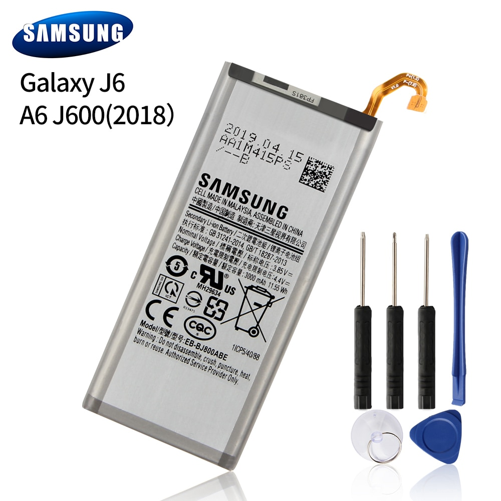 Samsung Original EB-BJ800ABE Battery For Samsung GALAXY J6 A6 On6 2018 version SM-A600F J600 Replacement Phone Battery 3000mAh enlarge