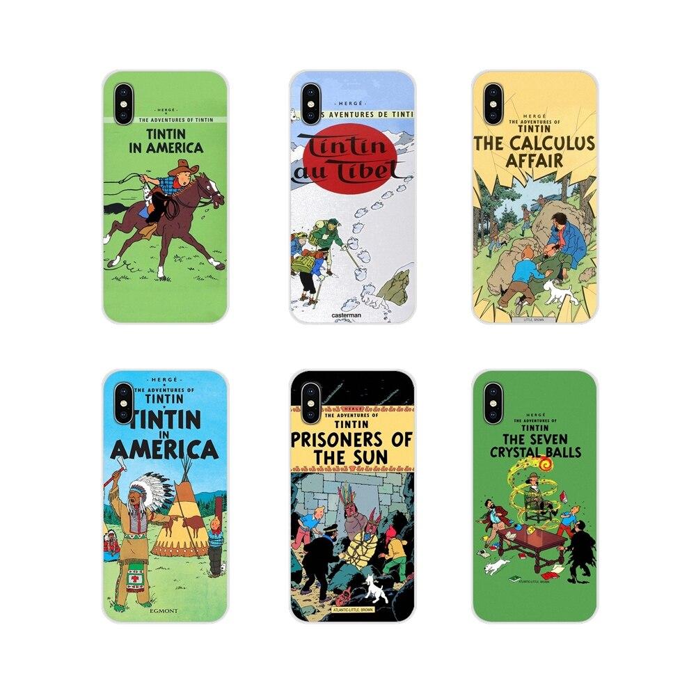 Póster de The Adventures Of Tintin, carcasas blandas transparentes para Samsung Galaxy S2, S3, S4, S5, Mini, S6, S7 Edge, S8, S9, S10E, Lite Plus