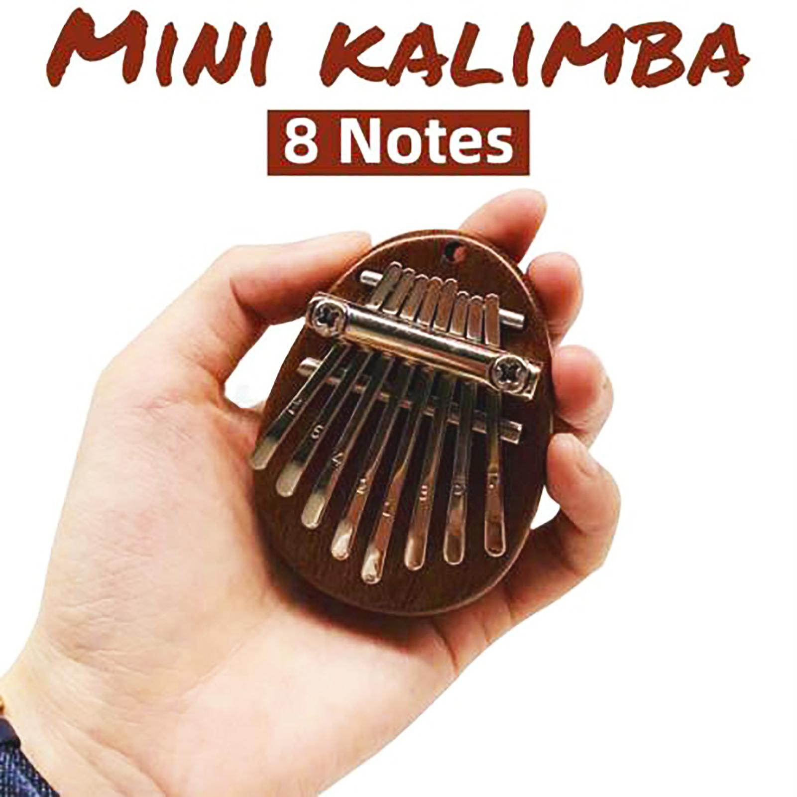 8 Keys Thumb Piano Mini Kalimba Wood Mahogany Mbira Body Musical Instruments Kalimba Piano Music Box