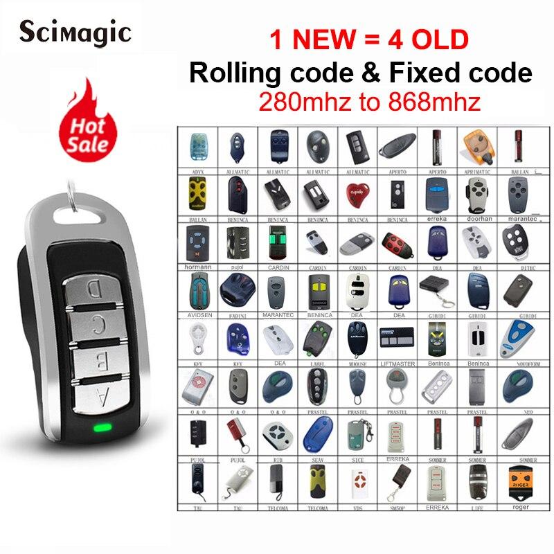 Gate Control Multifrequency Garage Door Remote Duplicator 433.92 Opener 433MHz 868MHz Controller Command Fixed Rolling Code Hot