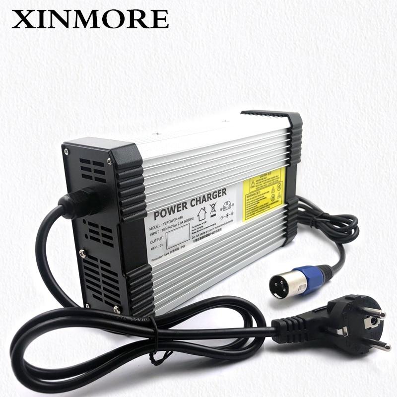 XINMORE-AC-DC Lifepo4 de 29,2 V, 14a, 13a, 12a, cargador de batería de litio para patinete de polímero de 24V, para altavoz y reproductor de CD