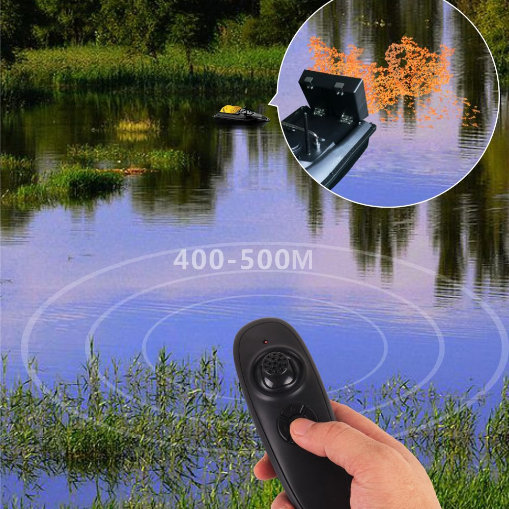 Wireless Remote Control Fishing Bait Boat Fishing Feeder Boat Fish Finder Device 430-540 yards Remote Range Bait Boat Fishing enlarge