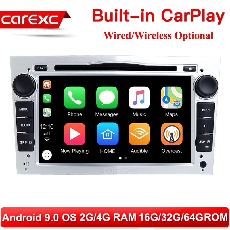 CarExc 2-DIN Player Multimídia Carro Para Opel Vectra C Zafira B Astra H Corsa D C G J carPlay Meriva Vivaro Rádio de Navegação GPS