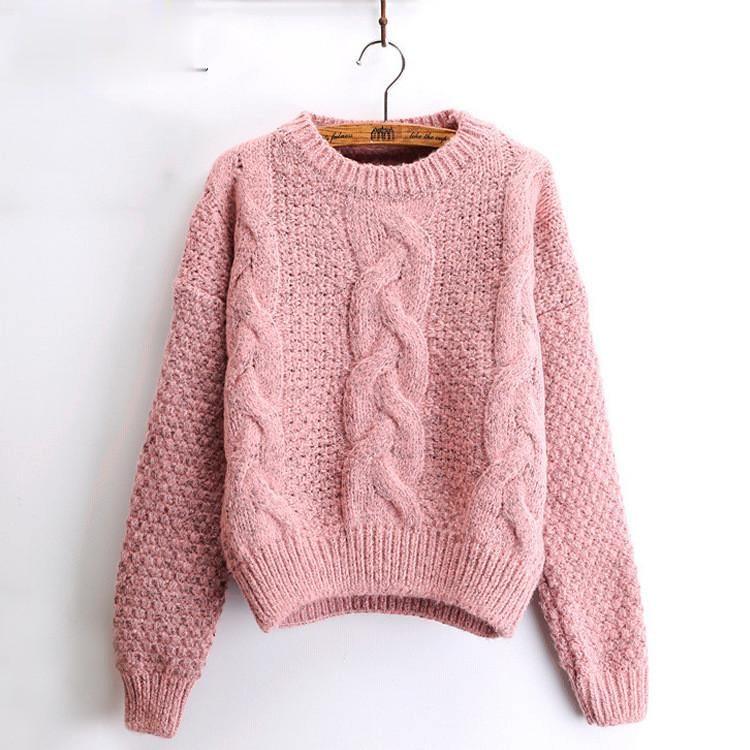 Женский Зимний пуловер и свитеры с круглым вырезом, скрученный женский свитер, женский короткий свитер, женский свитер, женский зимний свит...