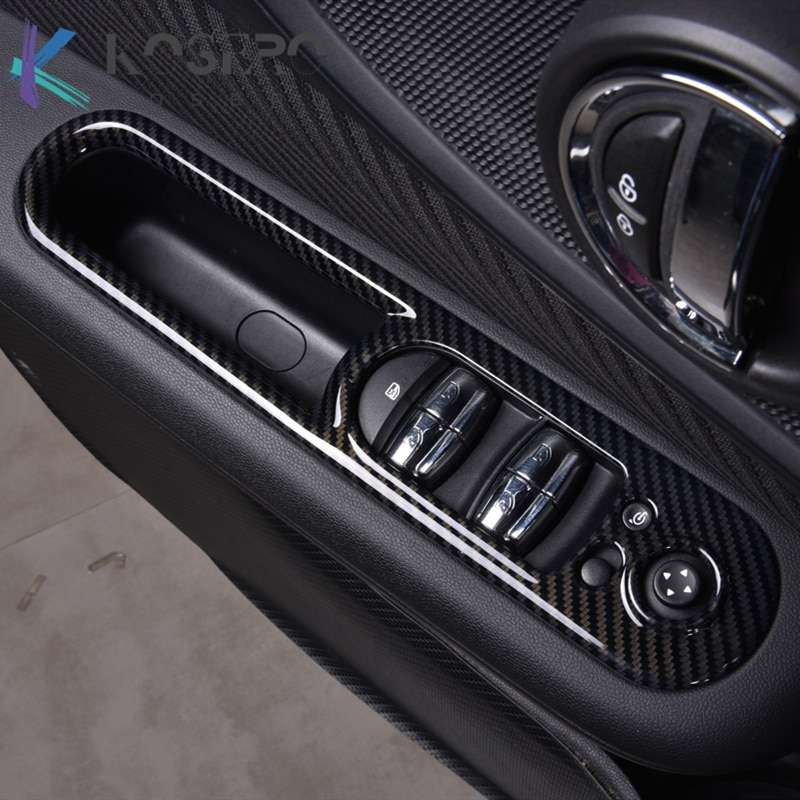 4 Pcs Car styling Windows Control Panel decoration cover For BMW MINI Cooper Clubman F54 Automotive interior sticker Accessories